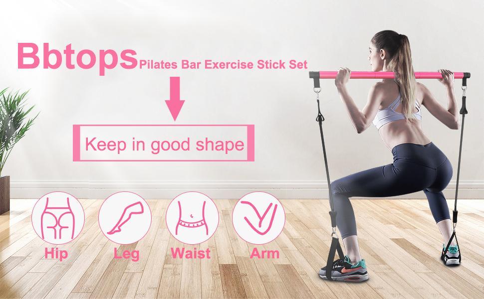 Pilates Bar Exercise Stick Set