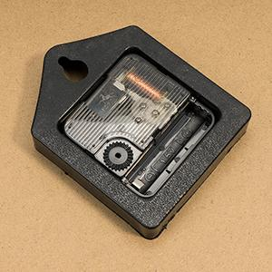 clock movement with slot for a AA battery