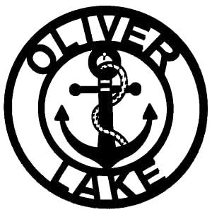 Metal Anchor Sign Oliver Lake
