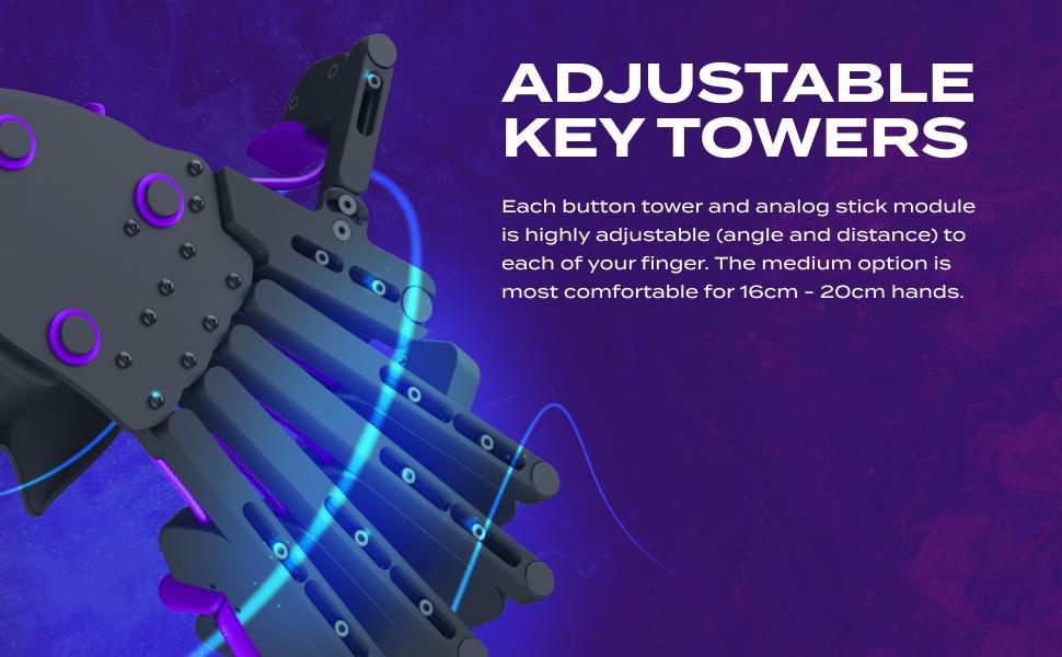 Adjustable gaming keypad