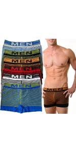 men's pack of six seamless MEN boxer briefs