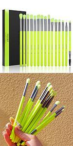 Neon eyeshadow brush set