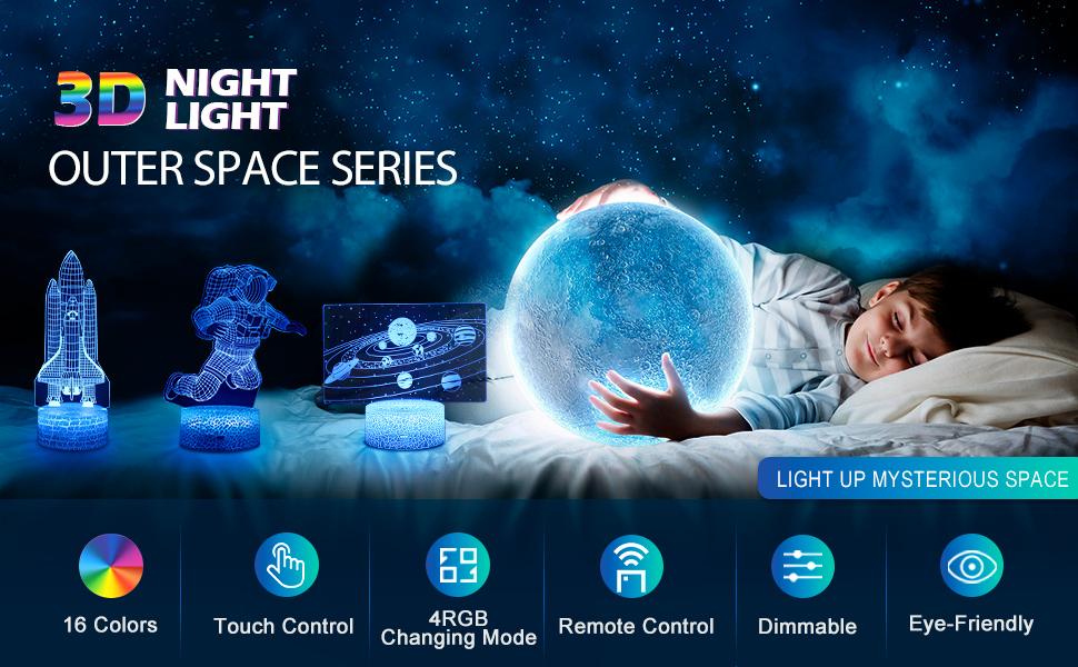 Solar System 3D Night Light