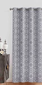 dark grey black out curtains 96 inch long energy efficient soundproof window panesl