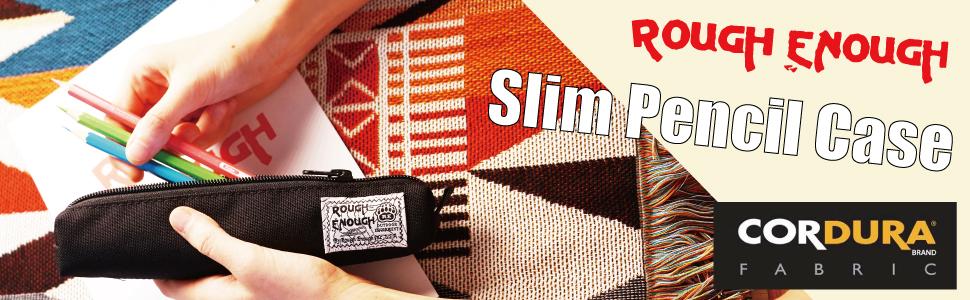 rough enough slim pencil case pouch small pencil case pouch for men women kids boys stationary