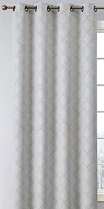 Redmont Collection Grommet Window Curtain Light Grey