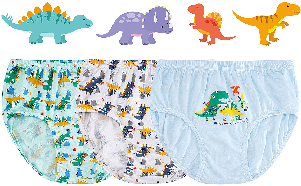 Deja que bóxers infantiles niños con dinosaurios y cehículo todoterreno dé un toque divertido.
