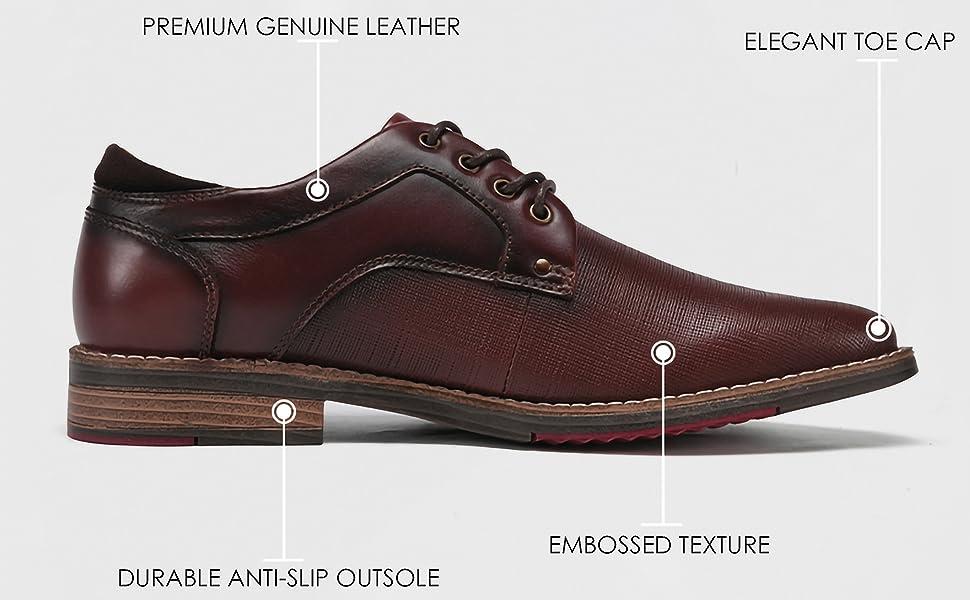 mens fashion casual formal oxford dress shoes