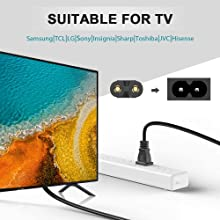 2 pin power cable cord for tv