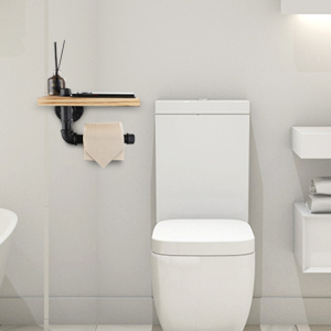 300 300 2 pipe toilet paper holder with shelf