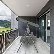 A+3-3 - porch swing with canopy stand