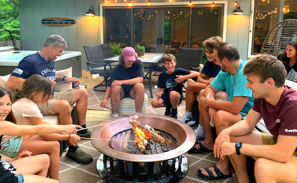 firepad fire pit mat social gathering around firepit heat shield s'mores