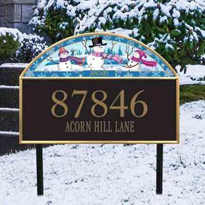 Seasonal Address Plaque