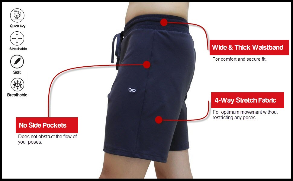 men yoga shorts