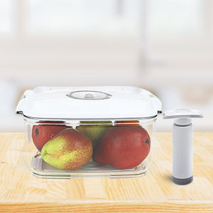square 2 pc vacuum container dishwasher safe freezer safe durable plastic stain odor resistant food