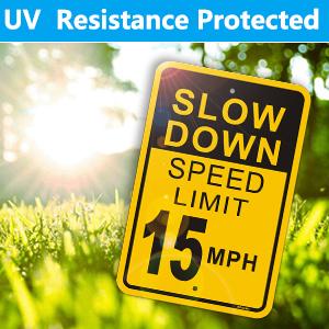 15 mpg speed limit sign