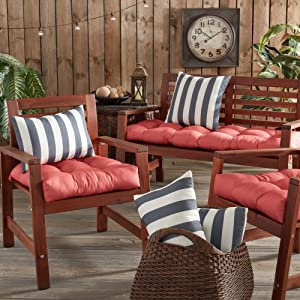 Coordinating outdoor pillows and cushions