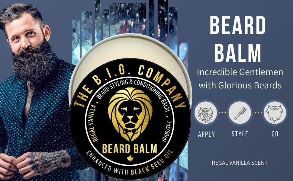 Regal Vanilla Beard Balm for Beard Style, Beard Conditioner and Supports Beard Growth