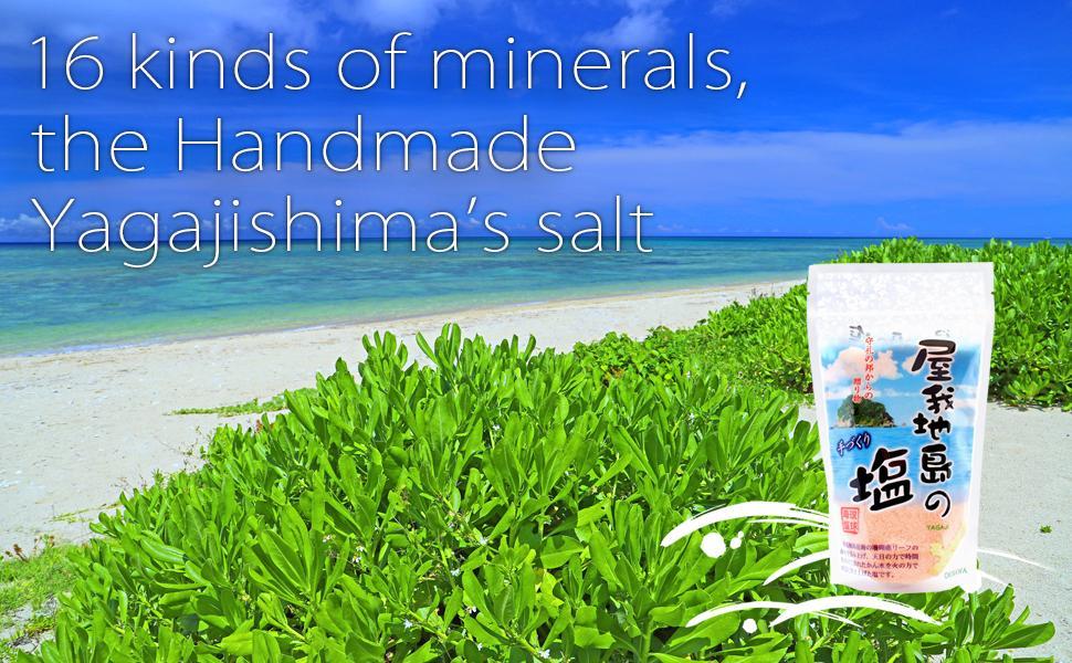 16 kinds of minerals, Handmade Yagajishima's salt