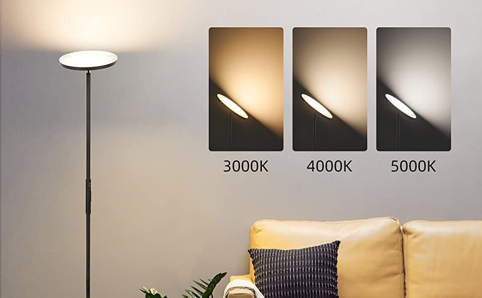 Lampadaire sur pied dimmable