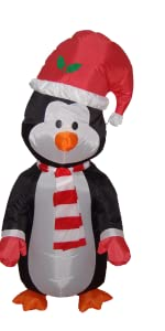 4 Foot Christmas Inflatable Cute Standing Penguin Yard Decoration