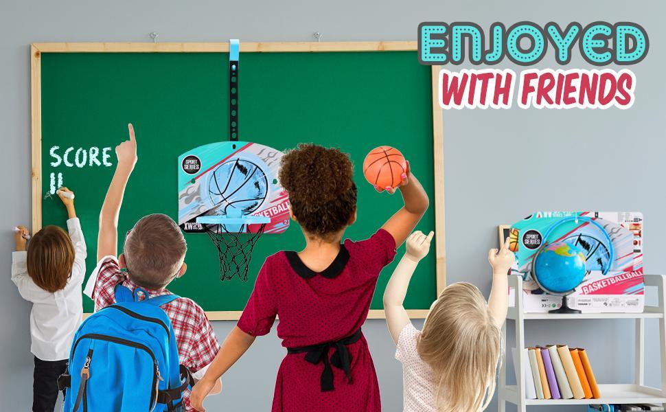 room basketball hoop with ball