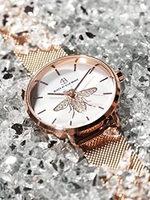 crystals paved watches for women rose gold