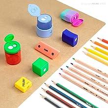 sacapuntas, lápices