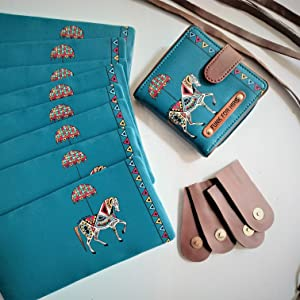Horse Lopp Wallet with its component
