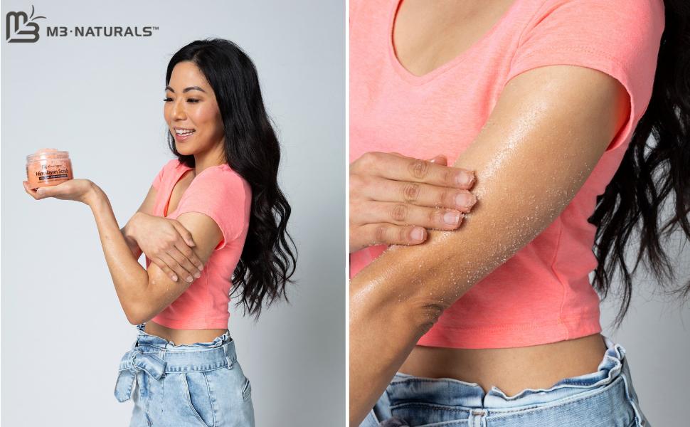 body scrubs for women exfoliation body skin care products exfoliating face scrub salt scrub spa gift