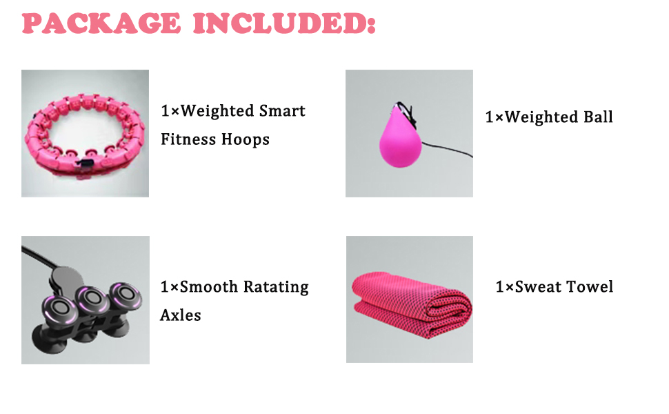 Weighted Smart Fitness Hoops