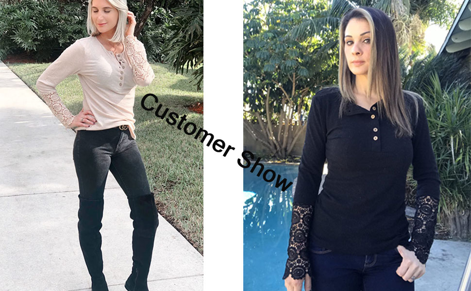 fall tops for women ribbed lace crochet long sleeve tee shirts