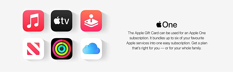 New Apple Gift Card, Apple One subscription, bundle 6 Apple services, easy subscription