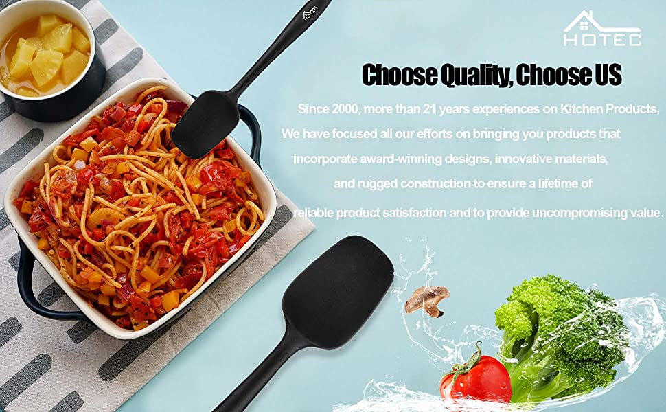 silicone spatula nonstick heat resistant bpa free dishwasher safe spatulas set