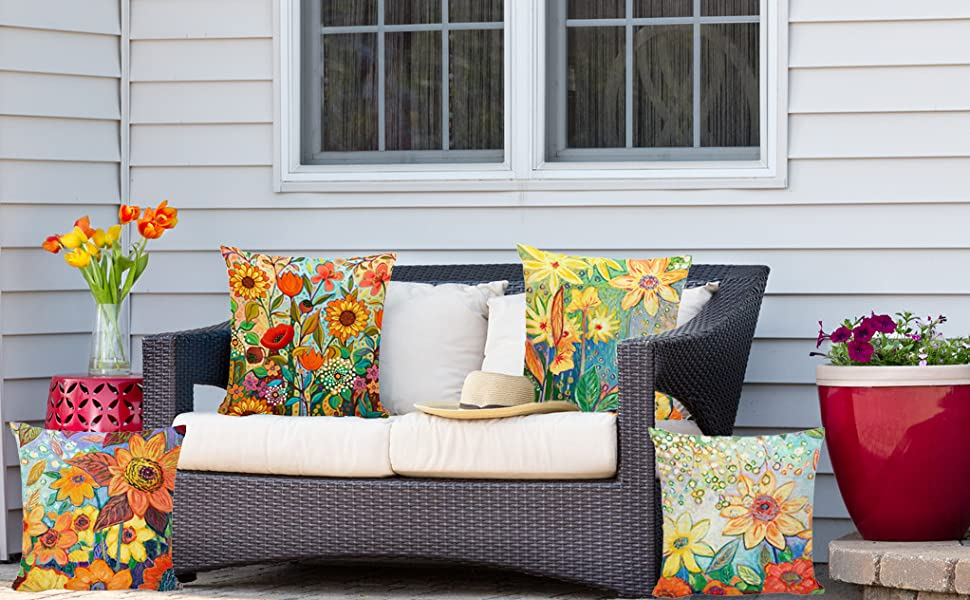 18x18 inch summer pillow covers