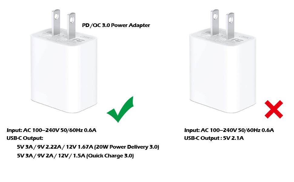 pd qc 3.0 power adapter