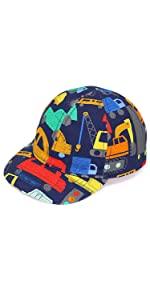 Baby Kids Cartoon Automobile Baseball Cap Adjustable Size