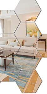 Large Hexagon 15 pcs Silver