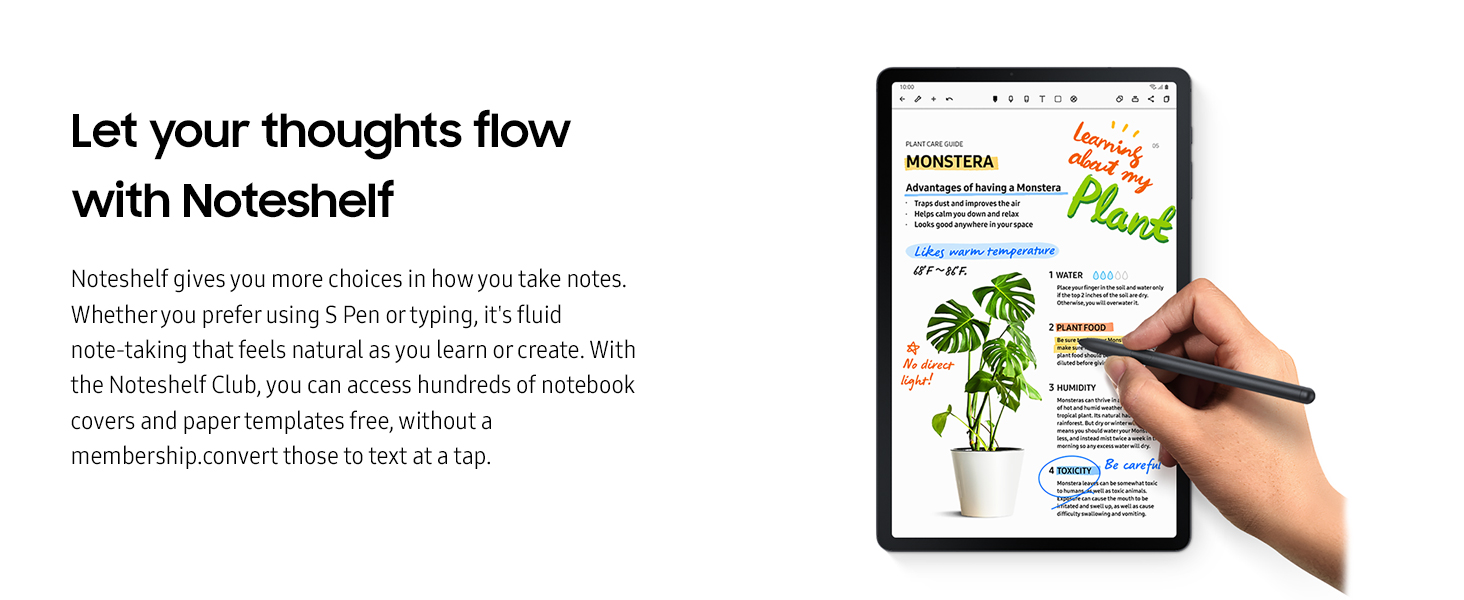 let your thoughts flow with noteshelf