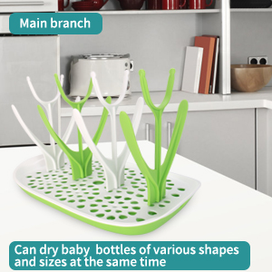 Main branch Can dry baby bottles of various shapes and sizes at the same time