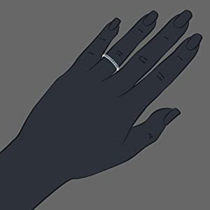 Vir Jewels 1/4 cttw Blue Diamond Ring Wedding Band .925 Sterling Silver 10 Stones