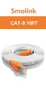 flat ethernet cable10ft