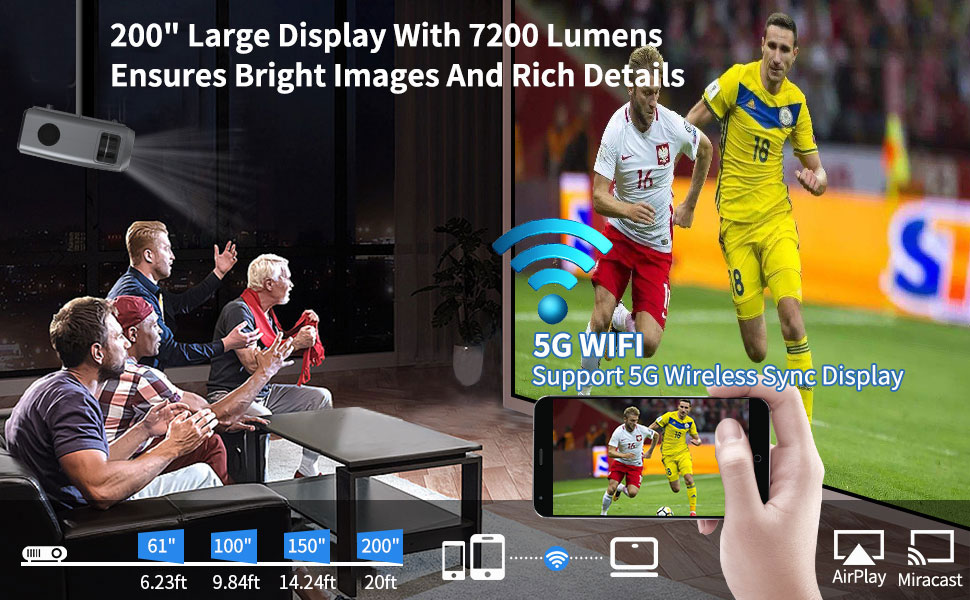 large display wireless projector