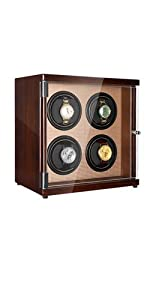watch winder piano golden interior decorated 4 watches slots for automatic