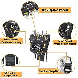 UTV Cab Pack Center Seat Bag
