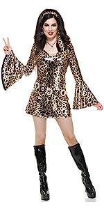 Leopard Print Disco Dress
