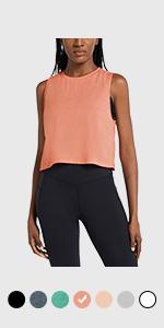 workout muscle crop tank top