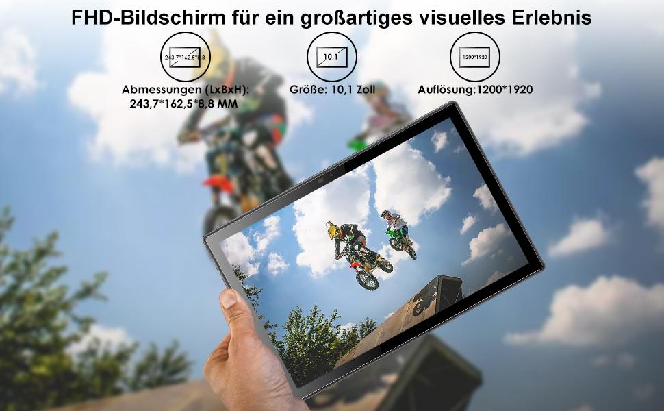 Tablet 10 Zoll Android 10.0 4G LTE Tablett PCmit 2 SIM Card Slot 4GB RAM 64GB ROM 128G