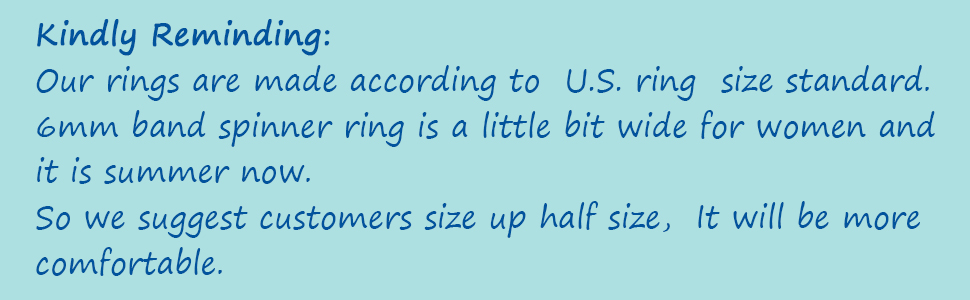 laoyou 6mm  fidget spinner ring