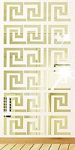 Greek Key - 10 pcs Gold